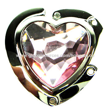 New Fashionable Zinc Alloy Bag Holder, Folding, Magnetic and Portable