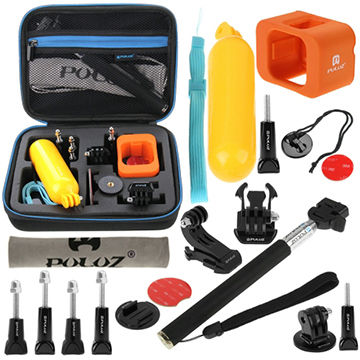 PULUZ 18 in 1 Accessories Combo Kit with EVA Case for GoPro HERO4 Session