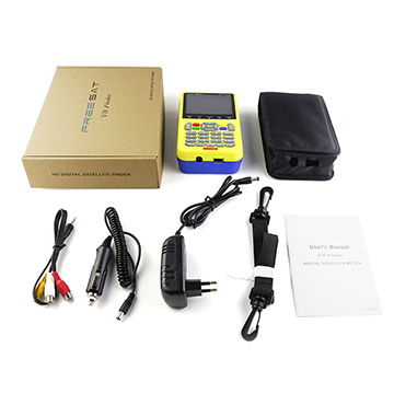 Handheld Digital LCD DVB-S/S2 1080P HD Digital Satellite with Yellow Color Shell