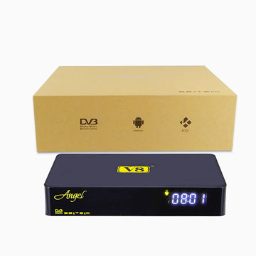 Freesat manufacturer V8 Angel DVB android S2&T2&C, android box and OTT and IPTV/live streaming