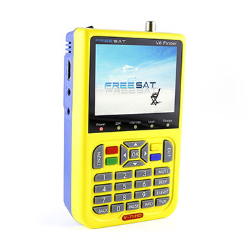 Handheld Digital LCD DVB-S/S2 1080P HD Digital Satellite Finder Automatic PAL/NTSC Conversion