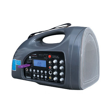 Portable wireless PA amplifier with USB/SD/record/FM/Bluetooth functions, also with wired/wireless