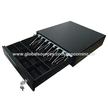 Small POS cash drawer with 3 position lock