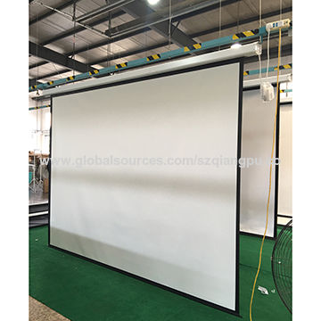 4: 3 Motorized Projection Screen from China