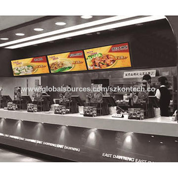43-inch LCD Advertising Display with 500 Brightness, for Catering Digital Menu Board