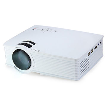 H909 LED Projector 1000LM 800 x 480 Pixels with SD Card/USB/HDMI/AV Input for Movies/Educational